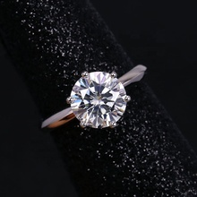 18 k gold 2,5 carat moissanite diamant spitze arm 6 klaue dame ring