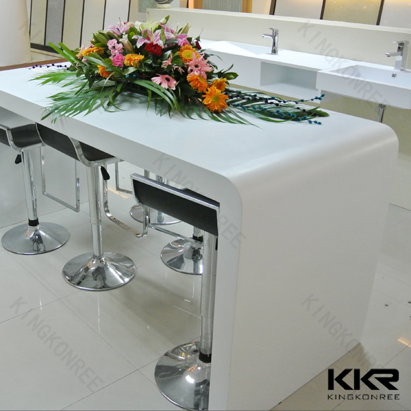 Japanese Low Table / U Shape Bar Table / Acrylic Solid Surface Top Table