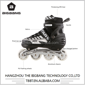 HANGZHOU THE BIGBANG pu lighting kids roller skating shoes inline skates professional