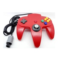 Classic Wired Controller Joystick for Nintendo 64 N64 Game System - Red