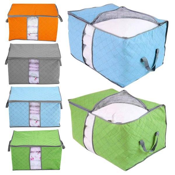 storage bags housse de rangement pour couette vetement stockage sac boite pliable rangement in. Black Bedroom Furniture Sets. Home Design Ideas