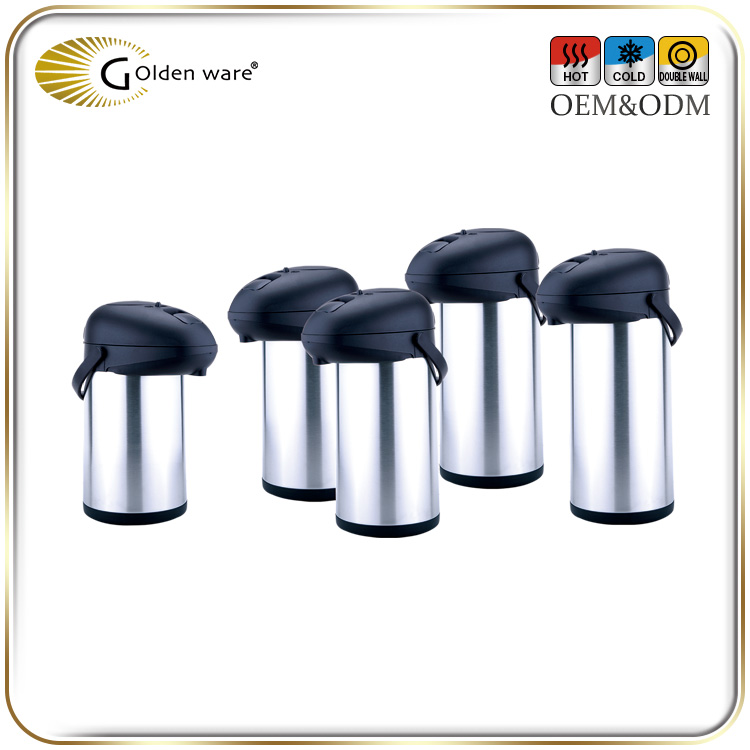 Golden Ware high quality double wall stainless steel Vacuum Flasks Thermal Carafe Jug
