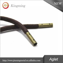 Custom Antique Brass Metal Aglet Shoelace Tip