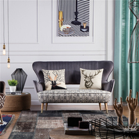 Unique fabric home furniture sofa set living room stereotypes sponge fabric sofa set designs metal base wooden sofa set