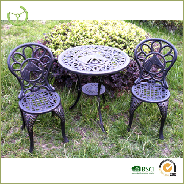2016 cast aluminum tables and chairs/outdoor dinner set
