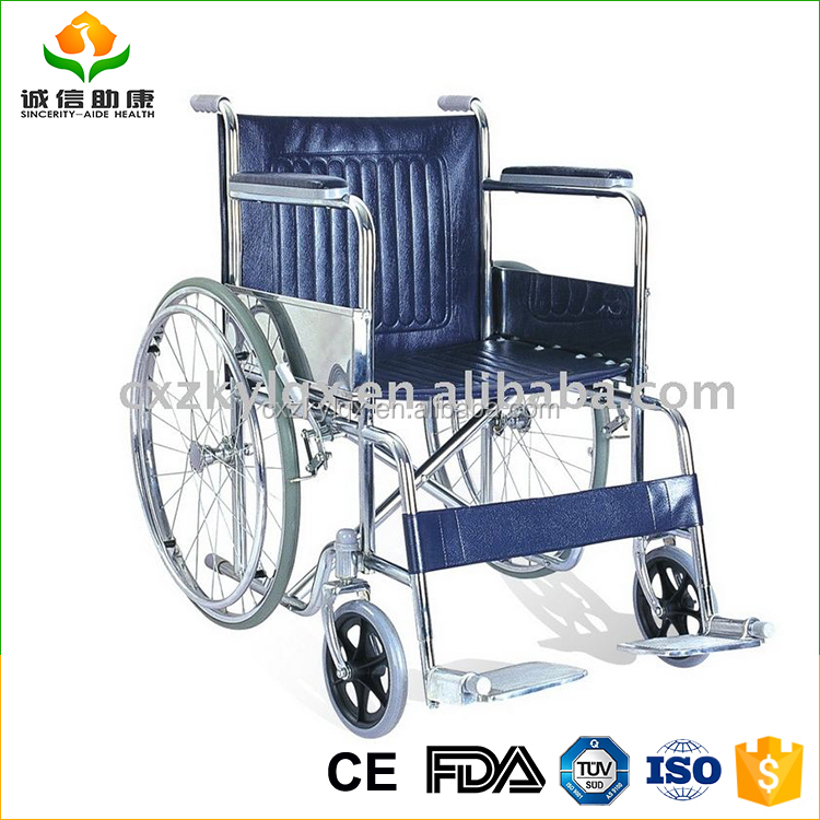 Lightweight chrome plate steel frame manual wheelchair LY894 with ISO CE FDA YUV certification approved