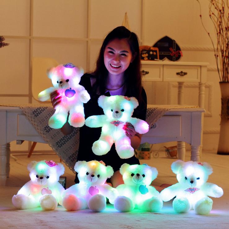 Wholesale Valentine's Day Gifts LED Light Plush Teddy Bear