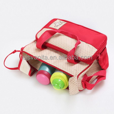 Popular Red Wholesale Diaper Bags with Bottle Bag