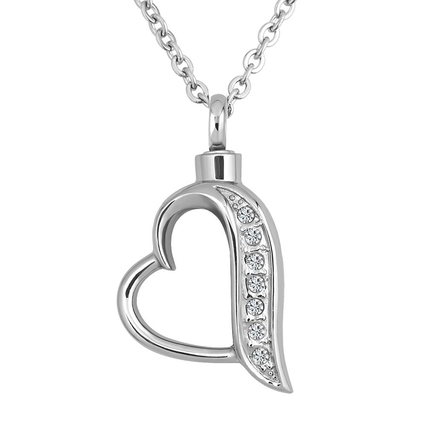 bag gift ash keepsake memorial product ashes lily necklace store rbvaevetnq heart funnel crown with pendant jewelry chain cremation and urn
