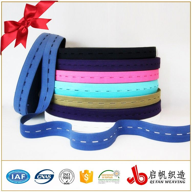 Brand new button hole elastic / soft elastic waistband / custom jacquard elastic band