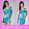 Wholesale Cheap Sexy Blue Leather Dress