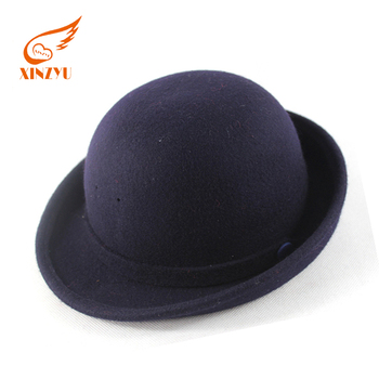 New style hot sell kids rock fedora hats navy black wool children felt hats b663dd96144