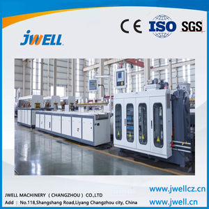 Jwell pvc soft crystal wallboard waterproof extrusion line