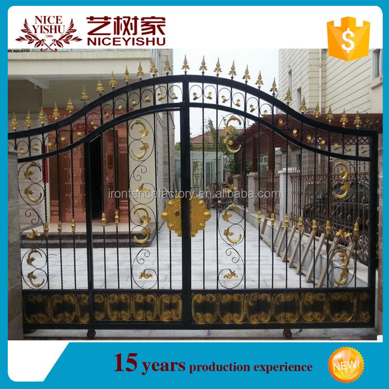 Wholesale House iron gate design / steel sliding gate / Aluminum ...