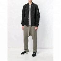 China Suppliers Wholesale Grey Cotton Men Casual Track Pants Drop Crotch Track Pants