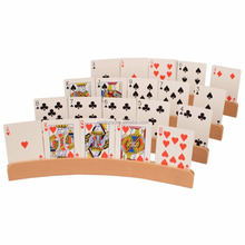 EASTONY En Bois Porte-Cartes-Lot de 4