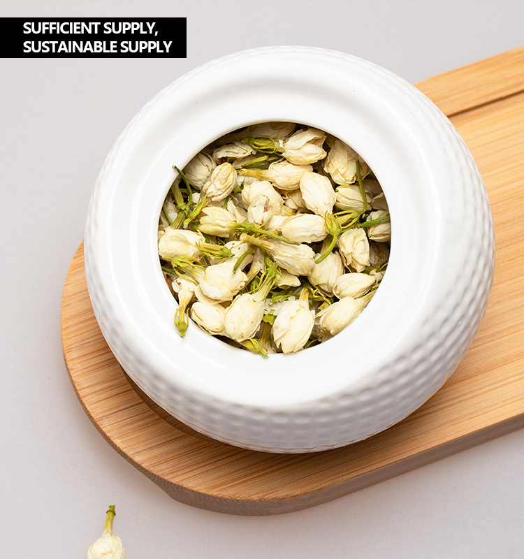 Pure natural Green jasmine in bloom dried for fresh Flavored refined chinese tea