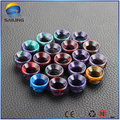 Sailing epoxy resin drip tips top cap wide bore for Kennedy 24 GOON BATTLE CAP atomizer