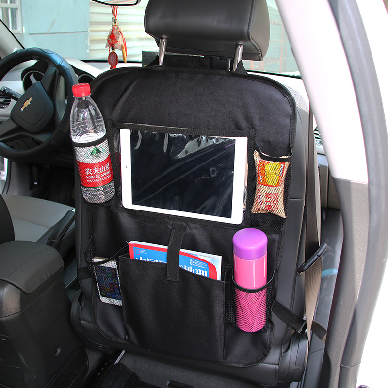 Auto back seat organizer en car seat protector met touch screen tablet houder/achterbank auto organizer