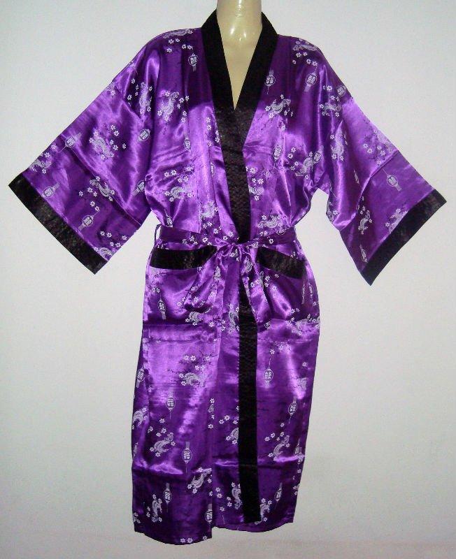 Thai Silk Kimono Japanese Style / Robe / Dressing Gown - Buy Kimono ...