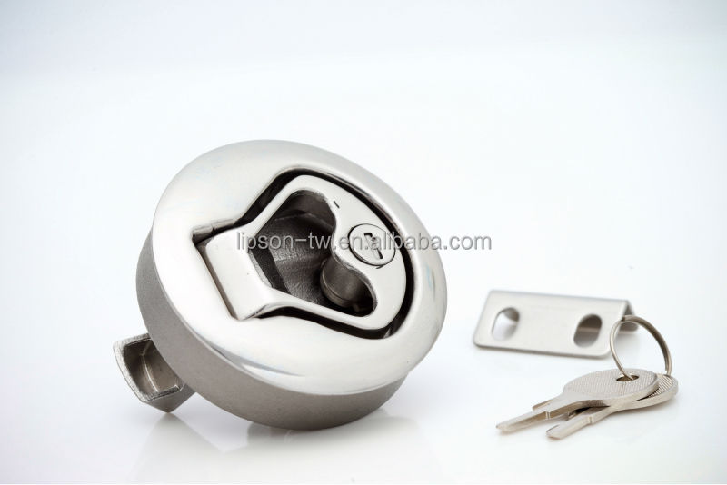 LM330 Stainless Steel Flush Mount Pull Ring Boat Latch View