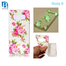 Note8 IMD Wintersweet Deer TPU Mobile Phone Cover Case for Samsung Galaxy Note 8 Nigh light Luminous Case