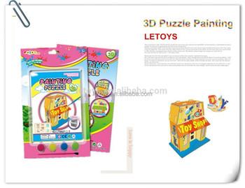 Diy 3d Bilmecenin Dükkan Boyama Oyuncak Okulöncesi Buy Product On