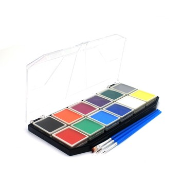 12 Colors Kids Face Paint Palette Water Based Best Quality