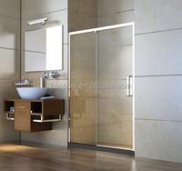 Best price unique design 2 doors sliding shower enclosure stainless steel bathroom
