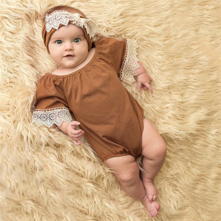 2016 Baby stocks romper suit lovely baby clothing guangzhou feiming baby romper set