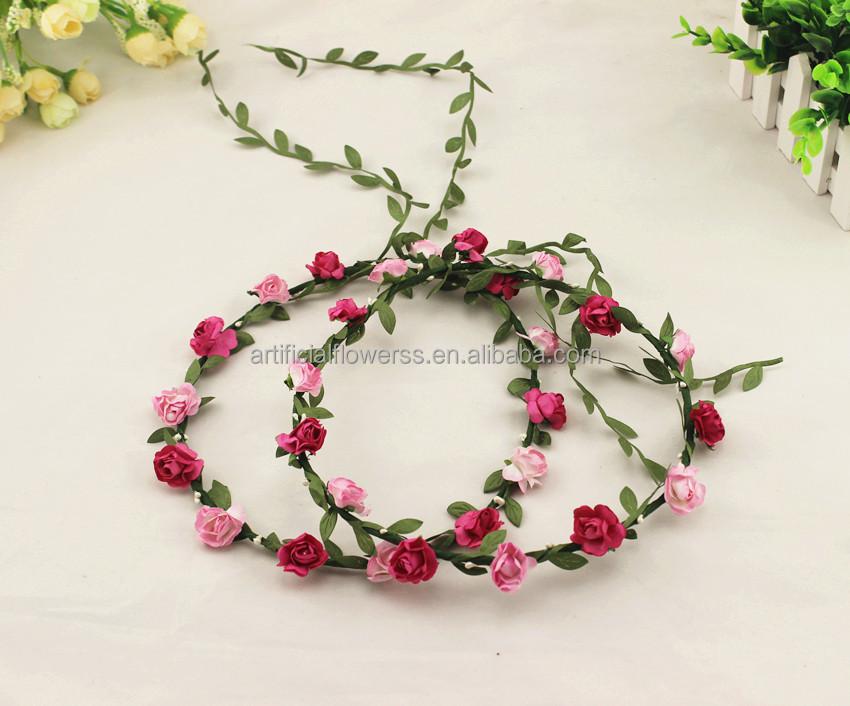 New Handmade Silk Floral Hair Wreath And Flower Head Garland - Buy ... 1afaa5249b2