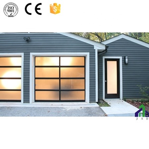 Automatic Customized Size Used Commercial Exterior Glass Garage Door Prices