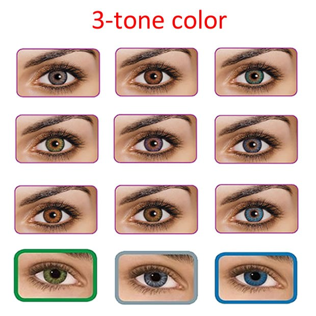 High Quality Fancylook Cosplay 3-tone Color Contact Lenses Party ...