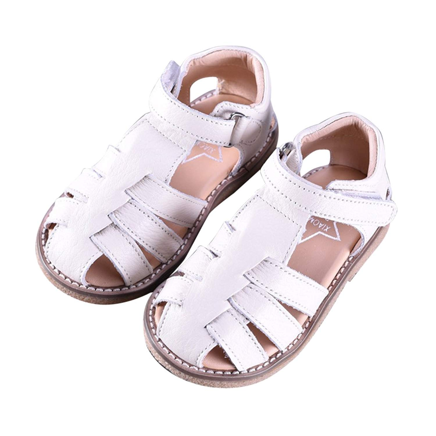 Mubeuo Skidproof Leather Toddler Kids Summer Sandals for Girls Sandles
