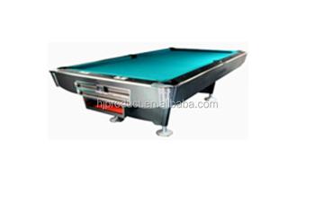 Good Design Slate Solid Wood Pool Table, Fancy Pool Table 9 Ball Black ,ball