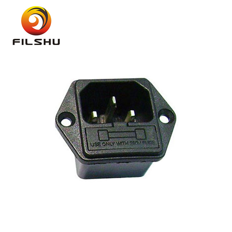 electric switch and socket 3 pin fused non fused IEC 320 Connectors AC power socket inlets outlets receptacles with cover