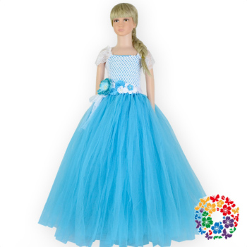 Hot Blue Baby Girls Birthday Party Flower Dresses Bulk Wholesale