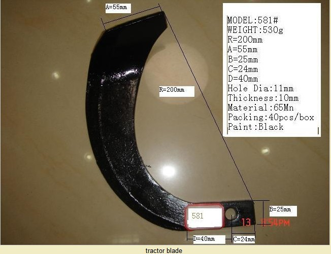 Rotary Cultivator Blade,Rotavator Parts,Tractor Spare Parts ...