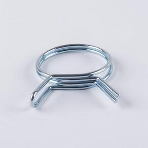 Custom metal galvanized steel single wire automotive hose clamps for tube clamp