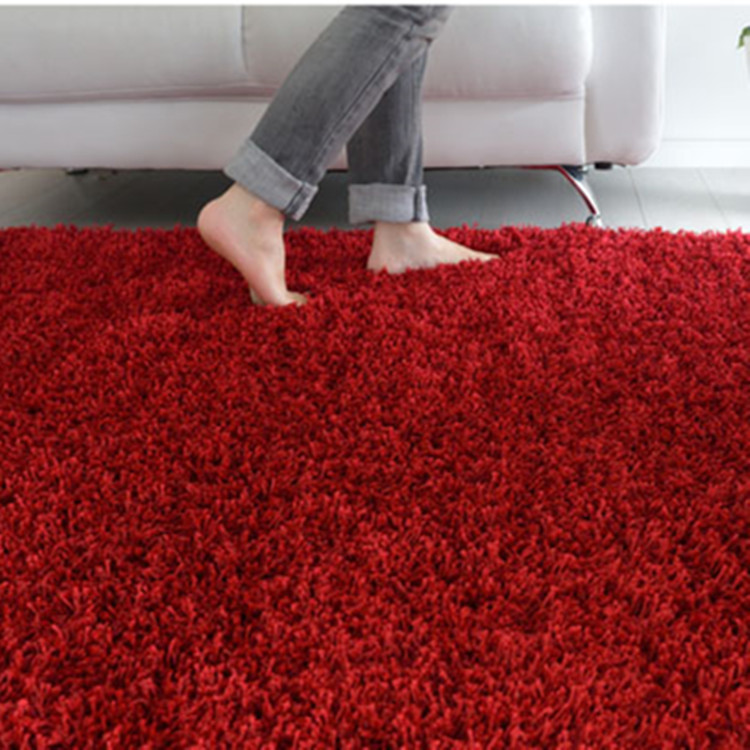 Polyester Red Shaggy Carpets And Rugs For The Living Room Buy