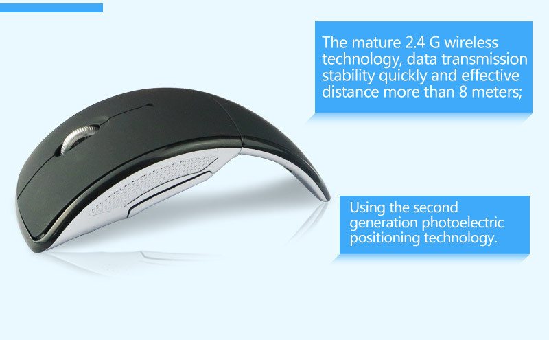 VMW-21 fancy wireless folding mouse for pc laptop with FCC CE ROHS