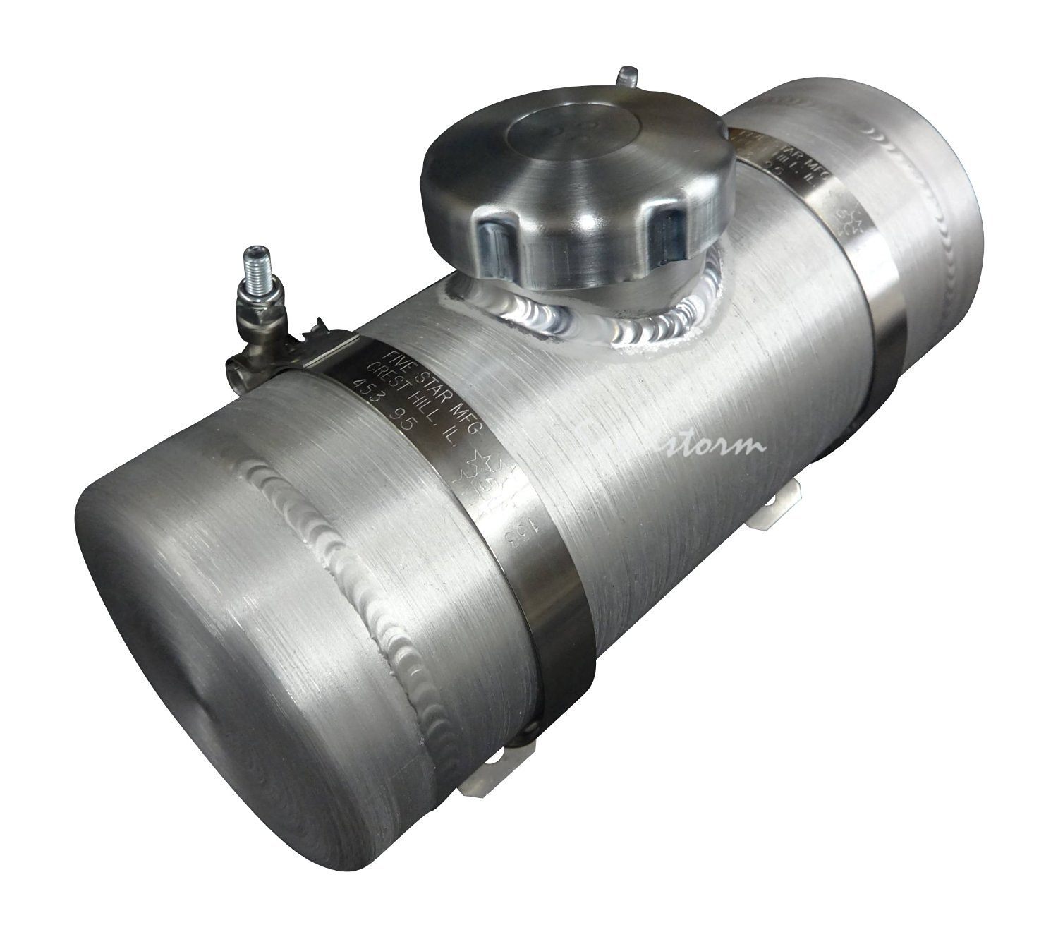1//4 NPT 2.0 Gallon 8x10 Center Fill Spun Aluminum Gas Tank Go Kart Racing