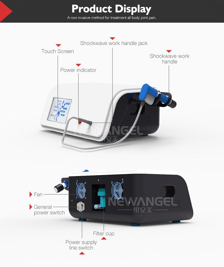 Nuova versione radiale shockwave macchina onda d'urto per il corpo sollievo dal dolore comune