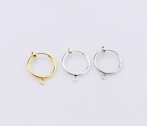Punk Clip On Fake Nose Lip Hoop Rings Earrings Silver Body Piercing Cool Two Styles