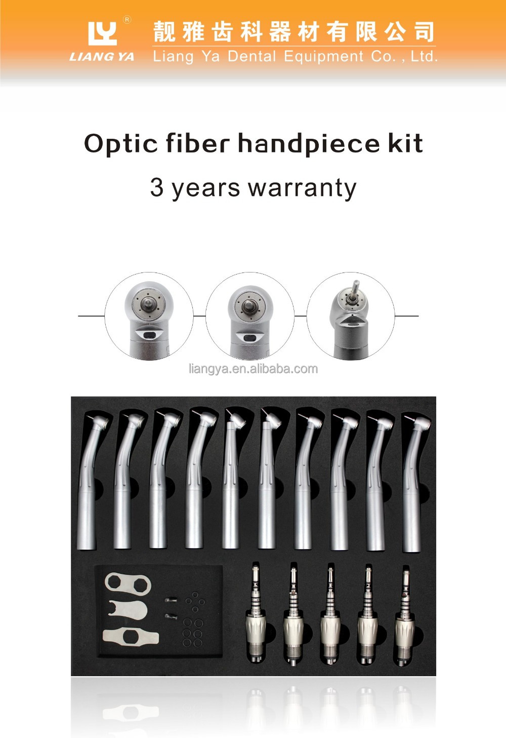 Fiber Optic Handpiece Kit 10PCS LED Handpiece Quick Coupling Dental Handpiece