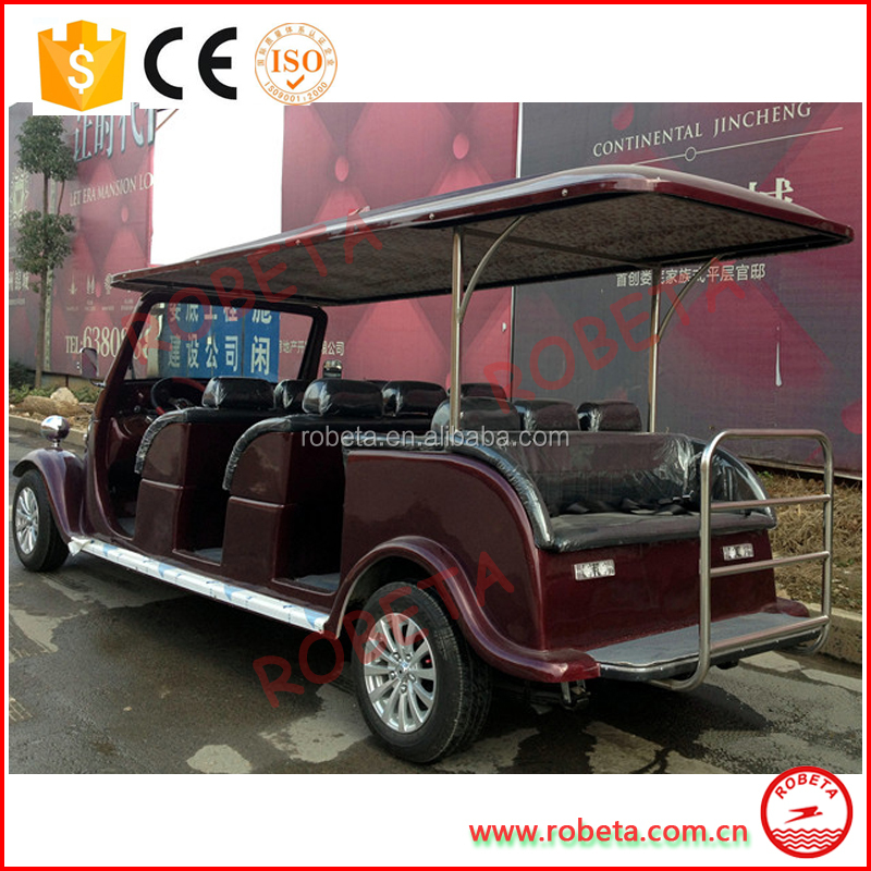 8 Seater Royal Vintage electronic car/new style electric classic cart for sal/ Whatsapp: 0086-15803993420