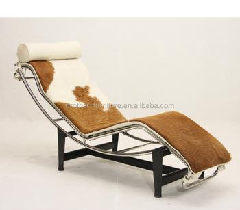 Designer Rplique Moderne Meubles En Cuir De Poney Lc4 Chaise Longue Avec Pas Cher Prix