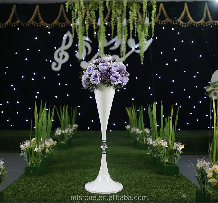 WEFOUND New Design Wedding Runway Road Led Flowers Vase for Wedding <strong>Decoration</strong>