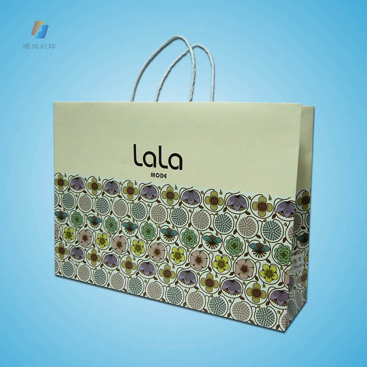 2019 High Quality Cheap White Kraft Gift Paper Shopping Bag Paper/Low Price Cloth Paper Bag Printing