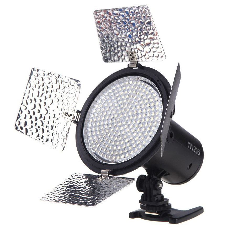 YONGNUO YN216 3200K-5500K LED Video Light Camera Shoot with 4 Color Plates for DSLR Camera photography job